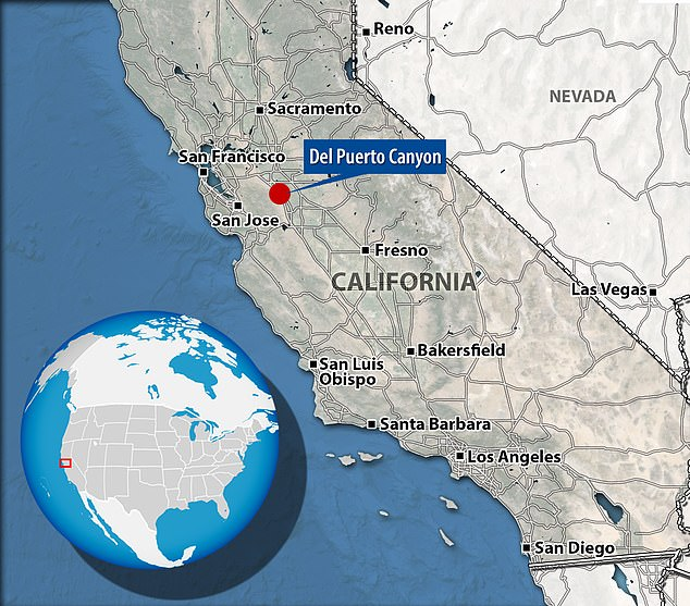 The robbery and shooting at the illegal marijuana grow took place in Del Puerto Canyon in California