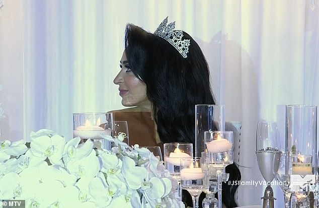 The bride: Angelina initially was being a good sport about the speech
