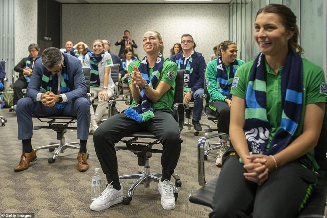 Football Federation Australia officials and three Matildas stars gathered in Sydney during the early hours of Friday morning to livestream FIFA's announcement