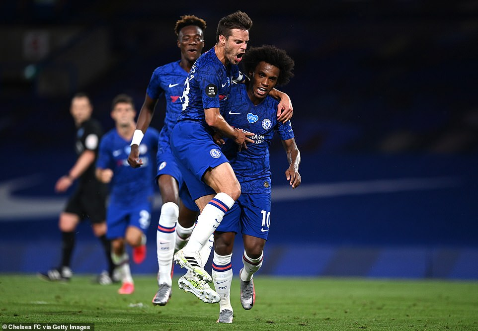 The Brazilian was sent off before his compatriot Willian stepped up to put the penalty into the back of the City net