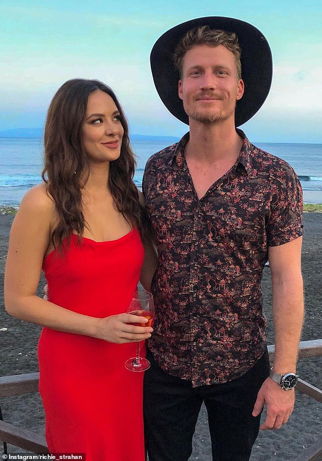 Smitten: The former TV star first went public with Jenayah back in October last year, when he shared this loved-up holiday snap from Bali