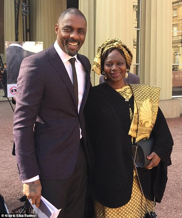 Powerful statement! In a discussion of the Black Lives Matter movement, Idris explained that his success did not `` deny '' his experience of racism (photo with mother Eve in 2016)