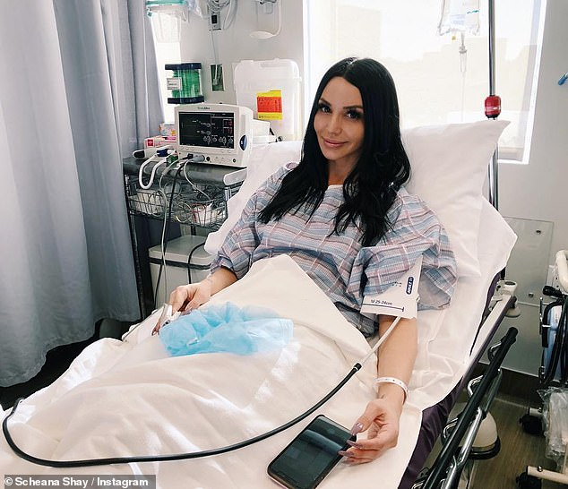 Backup plan: Scheana revealed in January 2019 that she had frozen some of her eggs and shared a photo of the hospital during the procedure