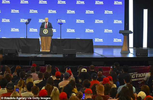 President Trump also spoke to 3,000 students in Phoenix Tuesday at an event that resembled a campaign rally