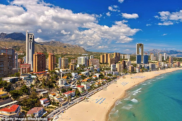 Spain has started to reopen to tourists after being one of the countries most affected by the virus. Pictured: Benidorm