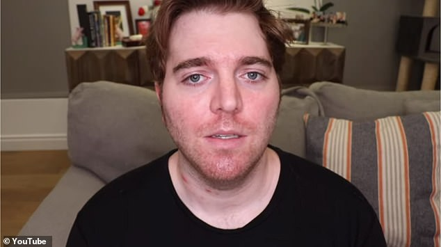 Shane Dawson, 31, a YouTube star with some 23 million subscribers, posted a video on Friday titled 'Taking Accountability'