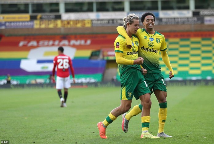 Hitting Todd Cantwell just 15 minutes from the end gave Norwich a deserved level, hitting him from the edge