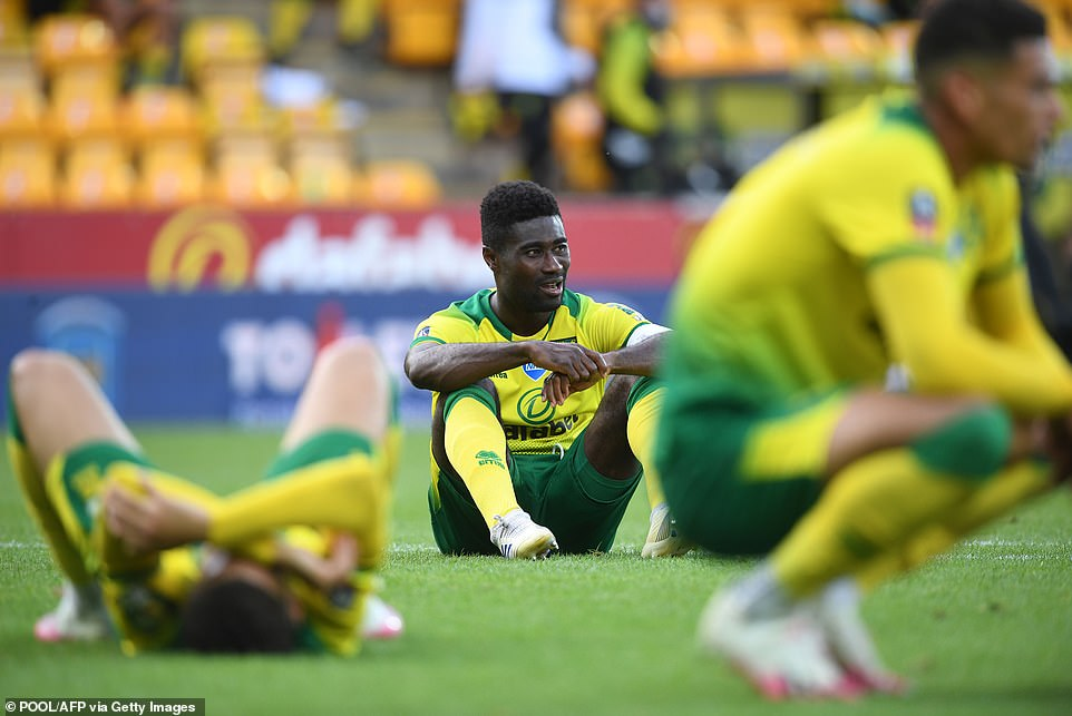 Norwich battled bravely and looked the better side at times but couldn't hold out after going a man down late-on