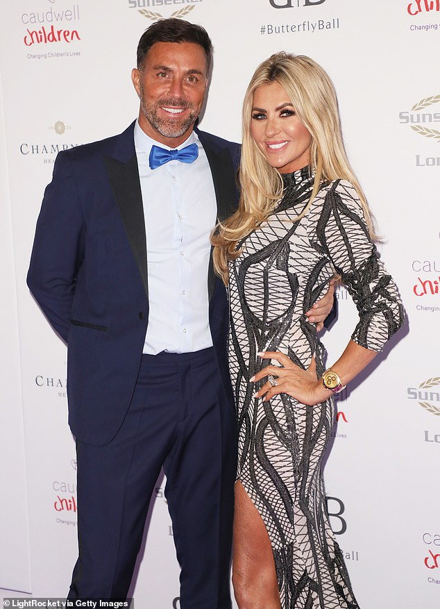 Support: friends including Abbey Clancy and Tanya Bardsley and Dawn Ward [pictured with husband Ashley] would have shared their support for Coleen