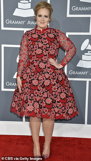Before: Adele pictured in 2013