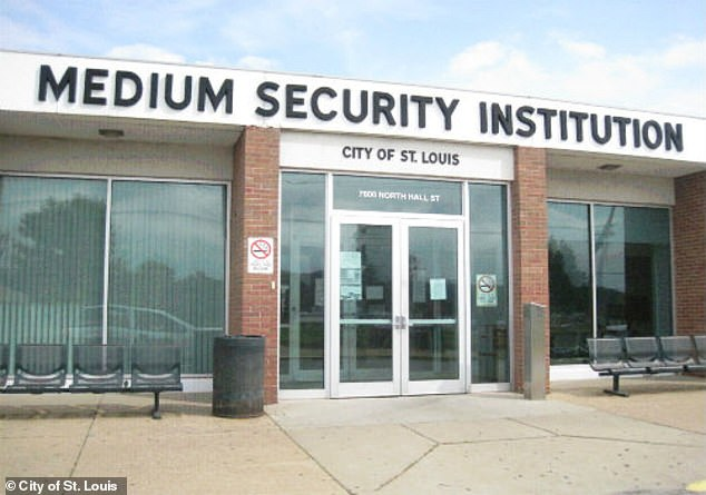 Demonstrators are urging the city to shut down the controversial St. Louis Medium Security Institution, also known as the 'Workhouse' (pictured)
