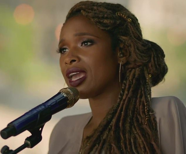 Legendary: The socially distant concert extravagance was opened by a catchy performance by Jennifer Hudson who sang Where Peaceful Waters Flow