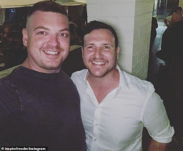 Mr Birch, pictured with a friend, is something of phenomenon in real estate circles, claiming to own an ever-increasing number of properties aged just 35