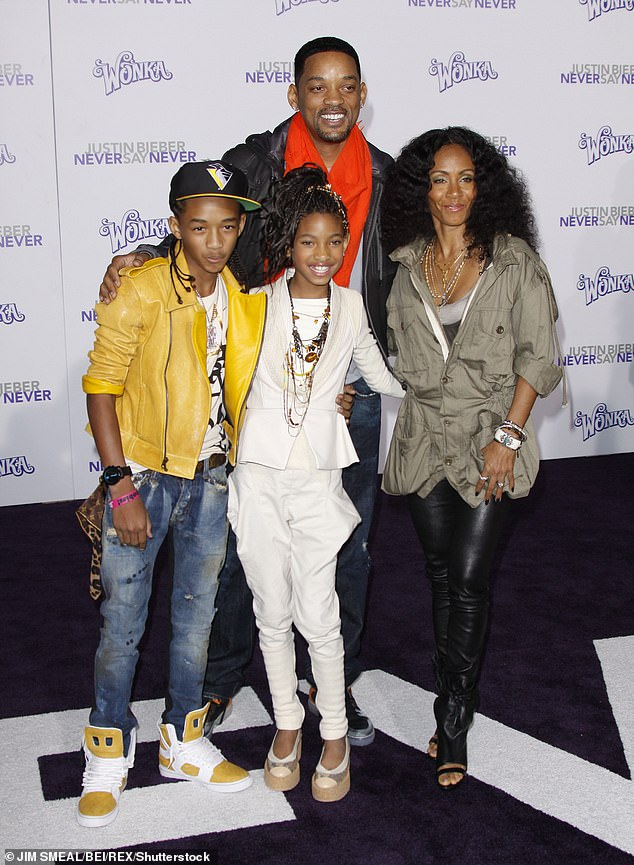Family: Jada is the mother of Jaden and Willow, now 19, with her husband Will Smith (photo in 2011)