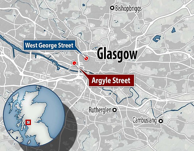 Latest violent incident less than a mile from knife attack just days ago when 6 people were injured on West George Street