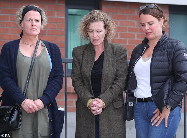 Noah Donohoe's family said in a statement on Sunday that his mother, Fiona (center),