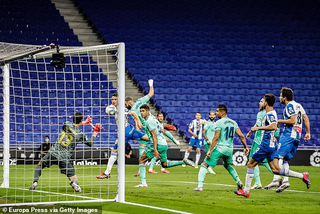 Espanyol did threaten Real Madrid with goalkeeper Thibaut Courtois forced into a save