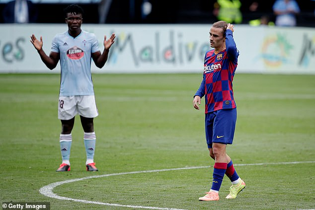 One of the complaints was the choice to use Antoine Griezmann (right) for Luis Suarez