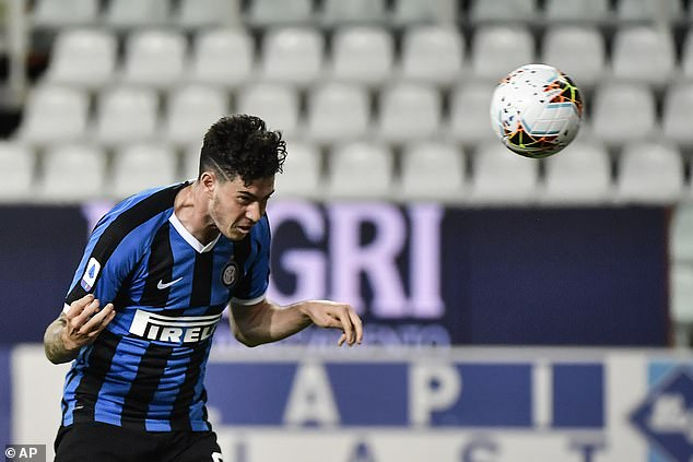 Allesandro Bastoni heads home a late winner  to give Inter Milan what was an unlikely victory