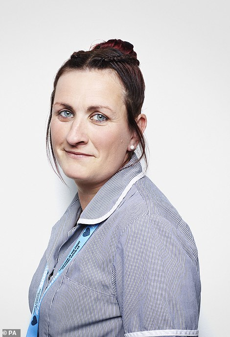 Laura Arrowsmith, 32, Covid-19 ward cleaner at Leighton Hospital in Crewe, Cheshire