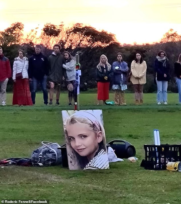 The memorial was organised by Bec Bennett, Ms Ferry's best friend who she was hiking with at the time of the tragedy.In a quirky post that typified her friend, she encouraged attendees to 'tell me stories of how you met her'
