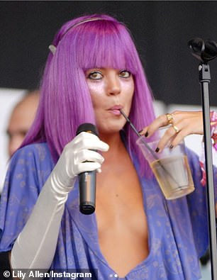 Show: 35-year-old singer also shared images to perform at Glastonbury in 2009