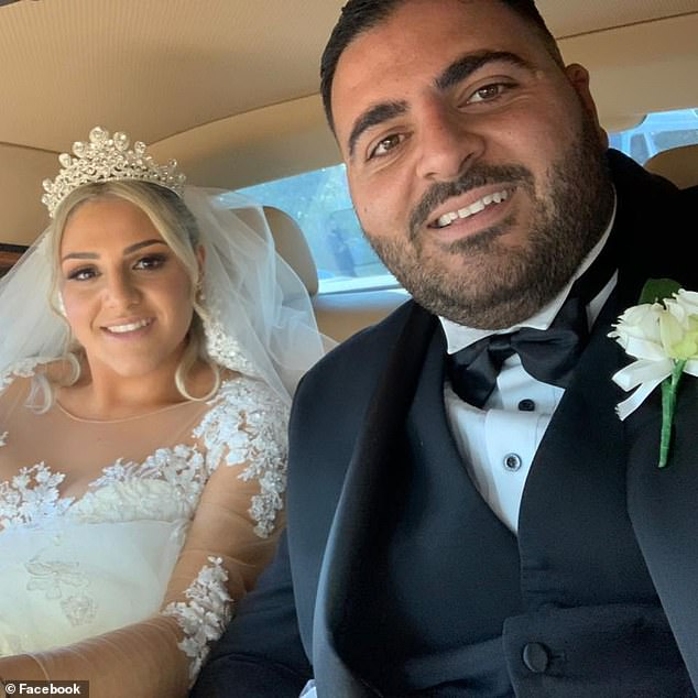 Concreter Elie Abousleiman (right) and two of his colleagues stumbled across a pile of toilet paper being temporarily stored by shop owner Celia Deng outside a home in Macquarie Fields in Sydney's south-west on June 16
