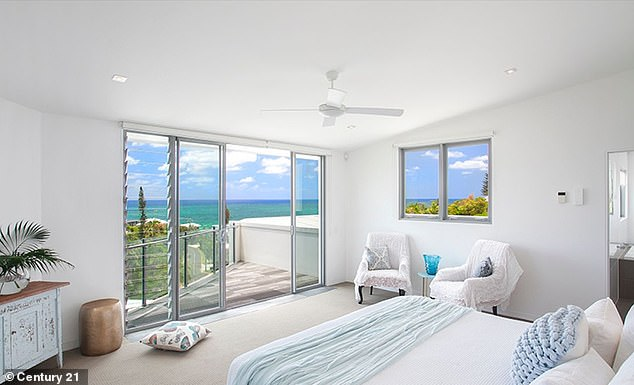 Stunning: All four bedrooms have water views while the master bedroom also has a large ensuite with a bath and a double vanity sink