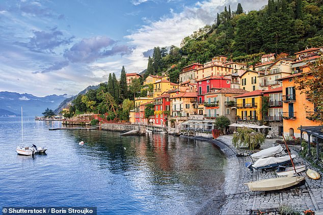 Paul says he likes to spend most of his holidays on Lake Como, pictured, visiting friends