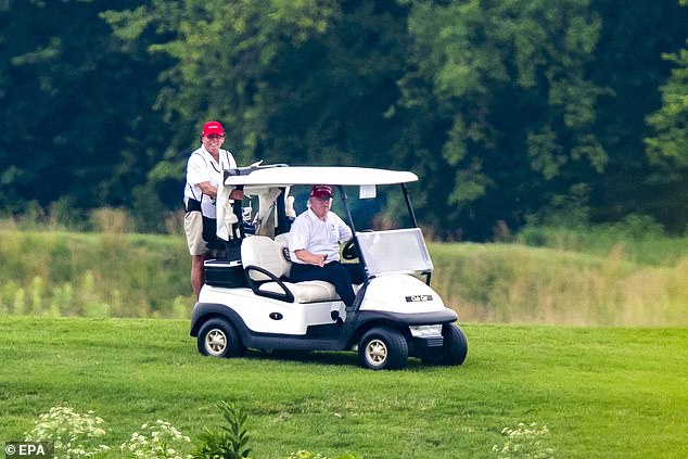 Instead he opted for a Sunday day trip to the Trump National Golf Club in Virginia, which is much closer to the White House