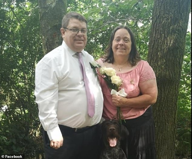 Jonathan Evans and wife Sarah Morris, both 47, who are Evans' dad and stepmother and who marched him to the police station to confess to the rape