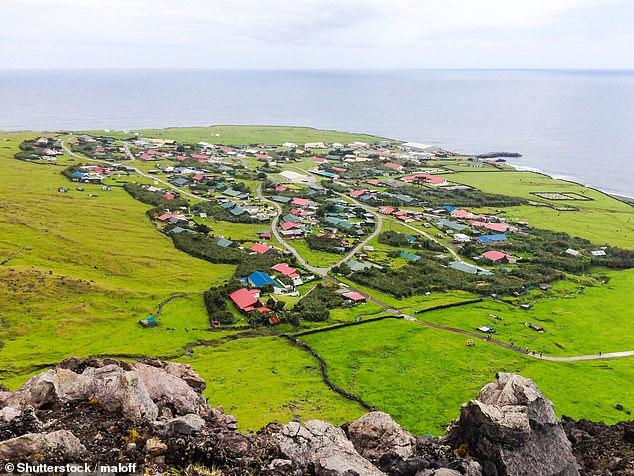 Edinburgh of the Seven Seaslies on the north coast of Tristan da Cunha