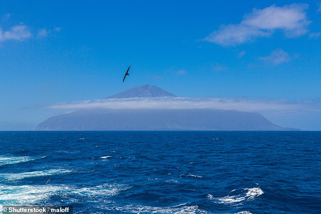 Tristan da Cunha's main volcano rises to 6,760 feet above sea level - and is a sight to behold