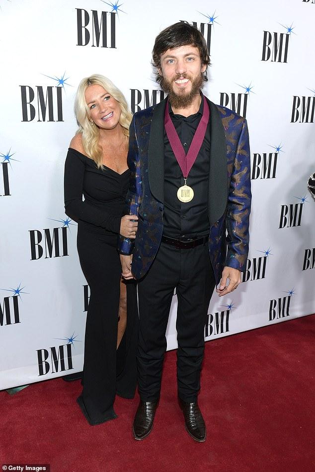 Dynamic duo: Chris seen with Kelly Lynn in Nashville back in November
