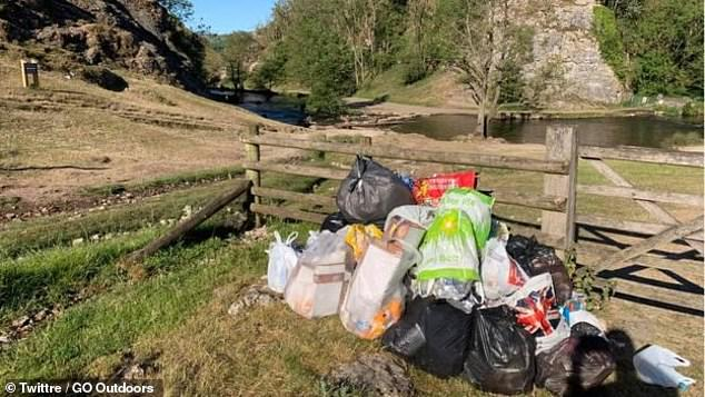 Rubbish was also piled up next to fences in outdoor areas, left by weekend day trippers