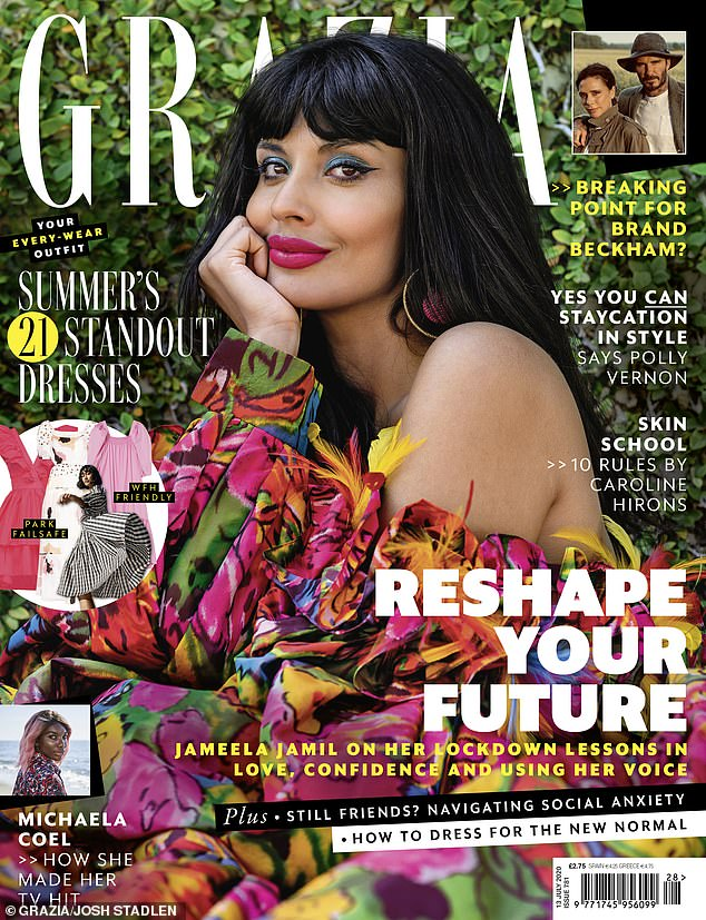 Candid: Jameela Jamil has claimed there are more high-profile celebrities who are 'scared' to speak out on Black Lives Matter out of fear of being 'cancelled' (GRAZIA, on sale Tuesday 30 June)