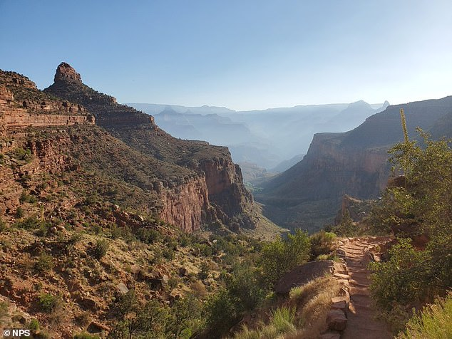 The National Park Service said temperatures hit 114 degrees Fahrenheit last week. It was 30 degrees hotter in the canyon's lower elevations
