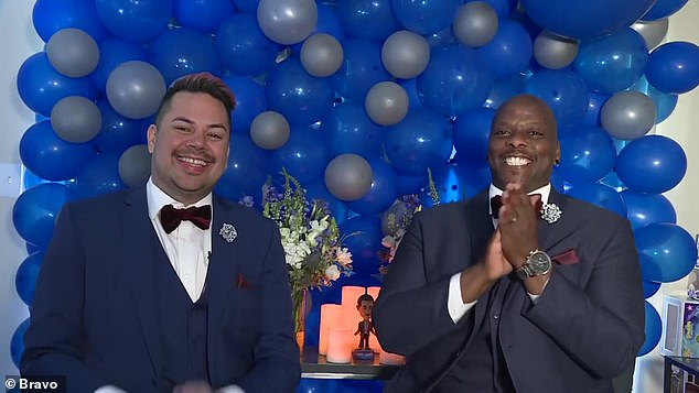 'Dedicated Bravoholics': Justin (L) and Robert (R) were the lucky couple chosen after their destination wedding plans were scrapped by the coronavirus pandemic
