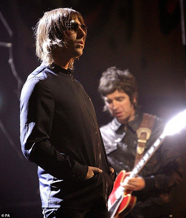 n the rise: The alleged incident occurred as his career with now-estranged brother Noel Gallagher was on the rise. Pictured together in 2007
