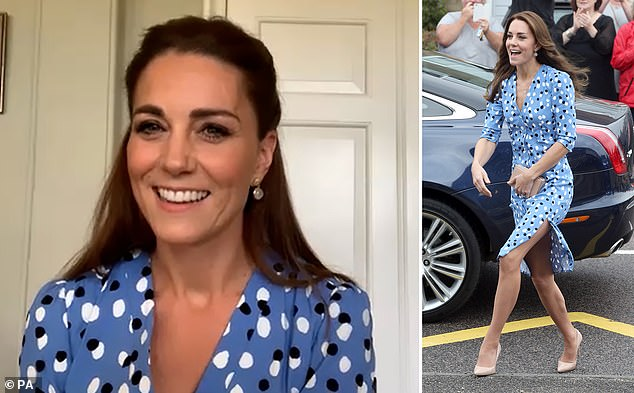 Hit the spot: allows you to find polka dot dresses have soared 66% after Kate re-wore the £1,300 favourite outfit from Altuzarra on the occasion of International Nurses Day call