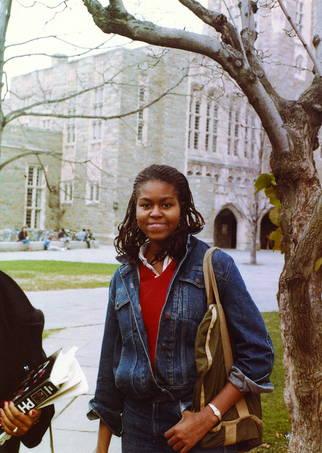 Michelle Obama (Michelle Robinson at the time) graduated from Princeton in 1985 (Photo courtesy of the Obama-Robinson Family Archives)