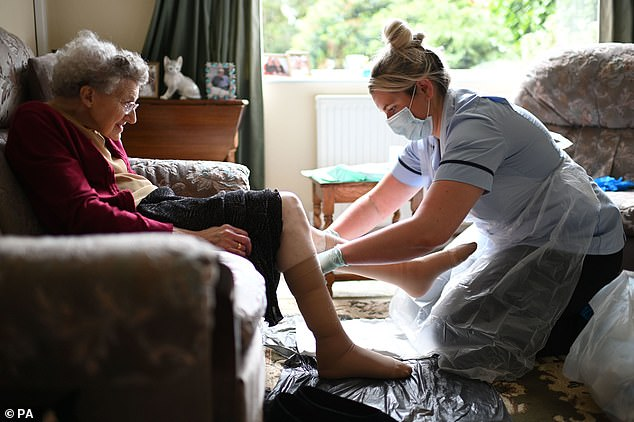 Twice as many dementia patients died at the height of the pandemic compared with previous years, Office for National Statistics (ONS) figures reveal today (file photo)