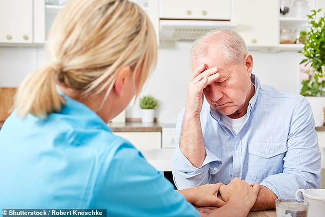 About 70 per cent of care home residents have dementia and a total of 718,000 people are living with the condition in England and Wales (file photo)