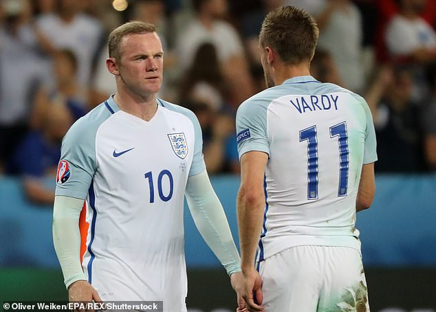 Snubbed?Wayne Rooney, 34, is said to have re-followed Jamie Vardy, 33, on Instagram, but his gesture appears to have been snubbed as the Leicester City player hasn't followed him back