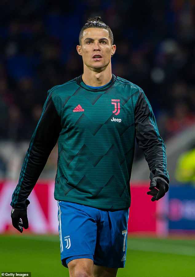 Changes: The Juventus player, 35, posted the picture which looked very different from his usual sleek style (above in February 2020)