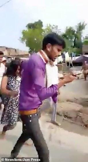 He parades her around the village