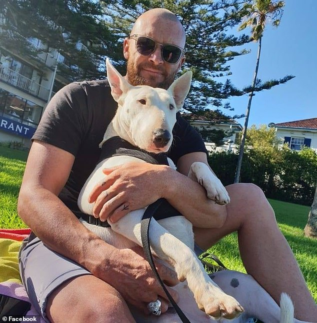 Andrew Jason Nicholls, 35, (pictured) Joshua White, 25, and Andrew Rutherford, 33, allegedly held the woman captive at an auto shop in Unanderra on the NSW South Coast at 11.20pm on Friday, according to court documents