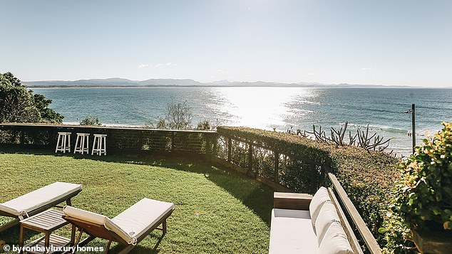 Wow! The beachfront home offers guests spectacular views of the water and Julian Rocks