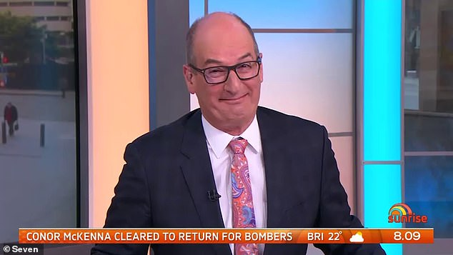 Star! Sunrise host David Koch's past role on Home and Away was revealed on Tuesday, with talk he was BANNED after no-one from Sunrise was invited back for 13 years since the episode