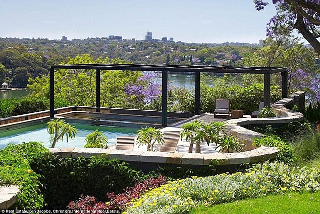 Splashing out! The couple spent approximately $8million on a three-year renovation project, that included a self-contained rooftop pool